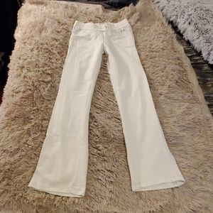 White with silver lettering BCBG pants size M